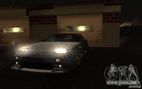 Nissan 240SX X1800 pour GTA San Andreas sur la vue arrière gauche