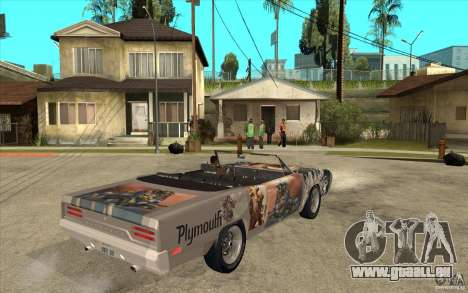 Plymouth Roadrunner Superbird Custom pour GTA San Andreas vue de droite