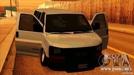 GMC Savanna 2500 pour GTA San Andreas vue intérieure