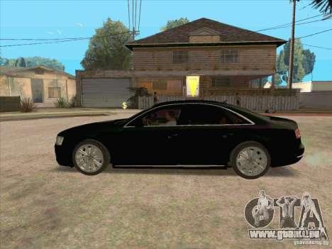 Audi A8 2010 pour GTA San Andreas laissé vue
