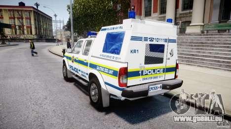 Nissan Frontier Essex Police Unit pour GTA 4 Vue arrière de la gauche