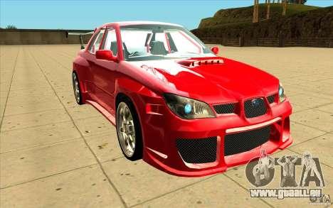 Subaru Impreza STI pour GTA San Andreas vue arrière