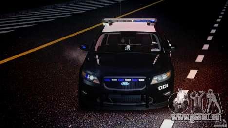 Ford Taurus Police Interceptor 2011 [ELS] für GTA 4 obere Ansicht