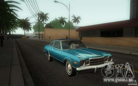 Plymouth Volare Coupe 1977 für GTA San Andreas Innenansicht