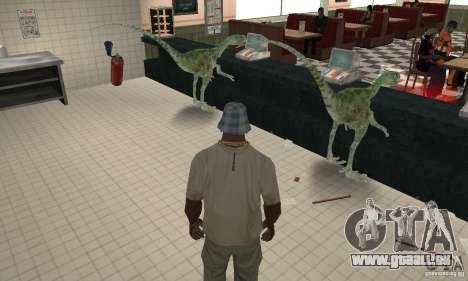 Dinosaure pour GTA San Andreas troisième écran