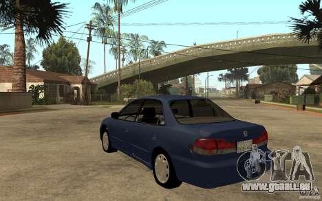 Honda Accord 2001 beta1 pour GTA San Andreas sur la vue arrière gauche