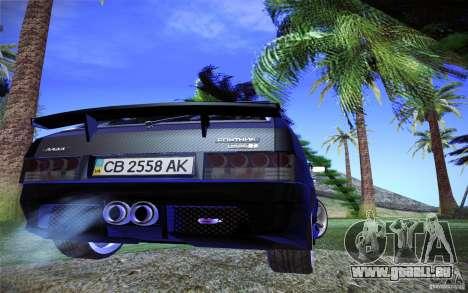VAZ 2109 Carbon für GTA San Andreas Rückansicht