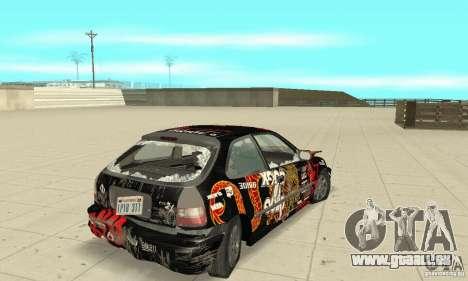 Honda-Superpromotion pour GTA San Andreas vue de dessus