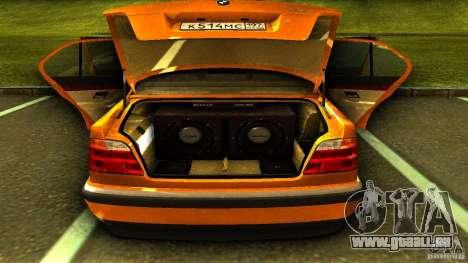 BMW 730i Taxi pour GTA San Andreas vue arrière
