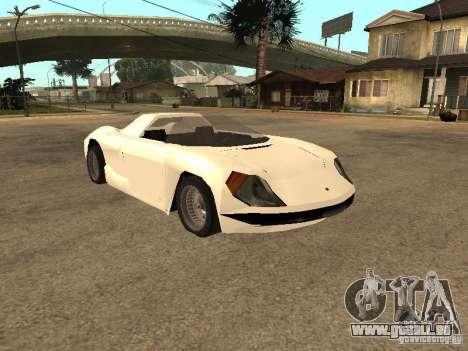 Cup Car pour GTA San Andreas sur la vue arrière gauche