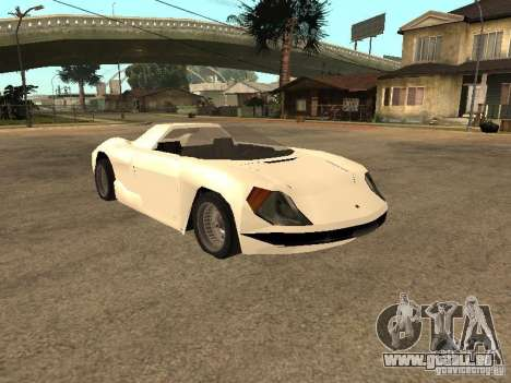Cup Car für GTA San Andreas zurück linke Ansicht