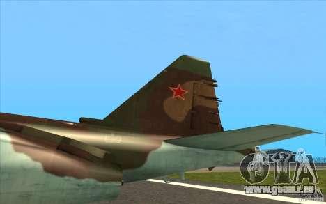 Le Su-25 pour GTA San Andreas vue intérieure