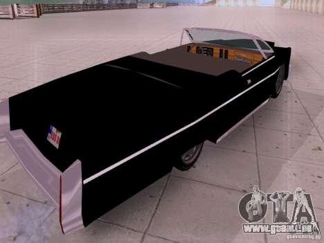 Cadillac Deville 1974 für GTA San Andreas zurück linke Ansicht