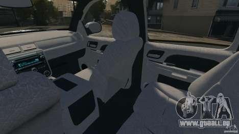 Chevrolet Avalanche Stock [Beta] pour GTA 4 est une vue de l'intérieur