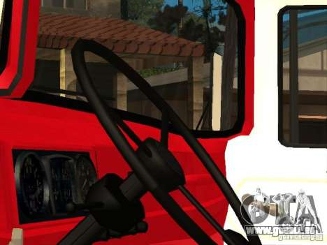 ZIL 131 Feuer für GTA San Andreas zurück linke Ansicht
