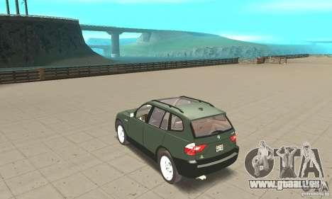 BMW X3 2.5i 2003 pour GTA San Andreas sur la vue arrière gauche