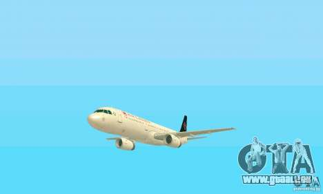 Airbus A321 Air Canada für GTA San Andreas Seitenansicht