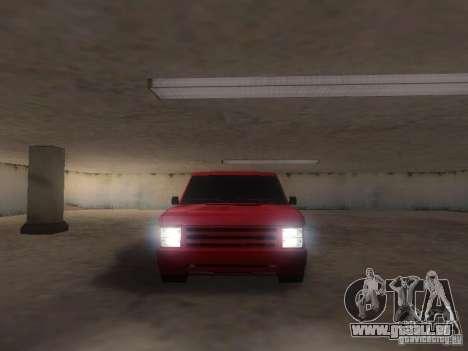 New Huntley pour GTA San Andreas vue arrière