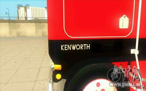 Kenworth K100 Extended Wheel Base für GTA San Andreas Innenansicht