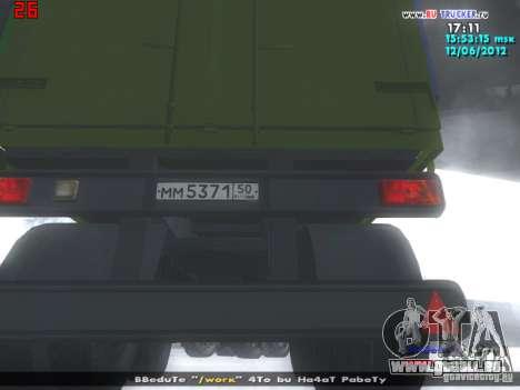 Nefaz 93344 pour GTA San Andreas vue arrière