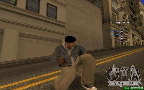 Brise-glace (bleu) pour GTA San Andreas troisième écran