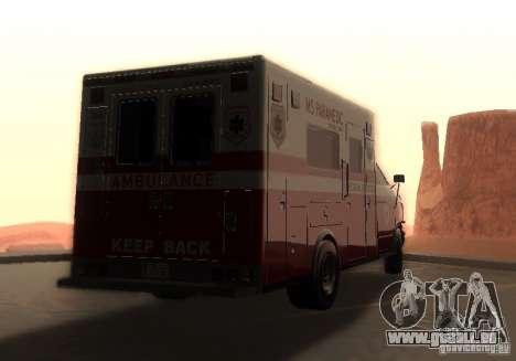 Ambulance de GTA 4 pour GTA San Andreas laissé vue