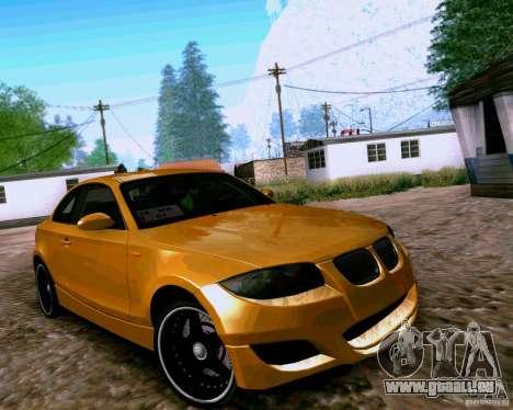 BMW 135 Tuning pour GTA San Andreas laissé vue