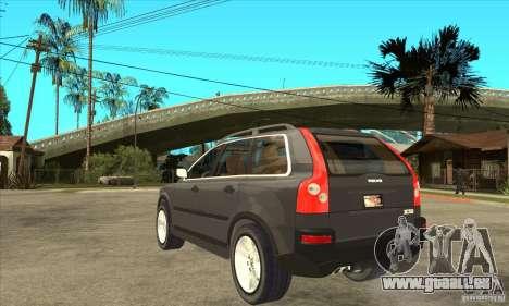 Volvo XC90 Sport pour GTA San Andreas sur la vue arrière gauche