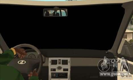 VAZ LADA Priora convertible pour GTA San Andreas vue intérieure