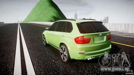 BMW X5 M-Power pour GTA 4 Vue arrière de la gauche
