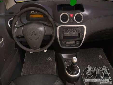 Citroen C2 pour GTA San Andreas vue arrière