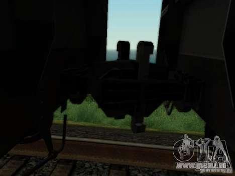Wagon couvert pour GTA San Andreas vue arrière