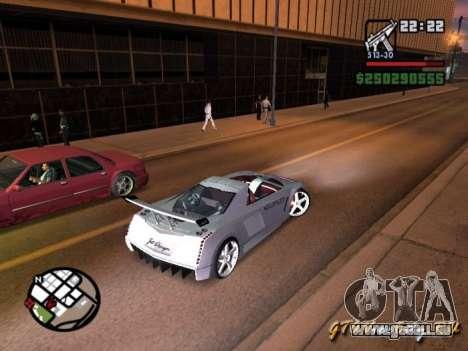 Cadillac Cien The SHARK DREAM Tuning pour GTA San Andreas laissé vue