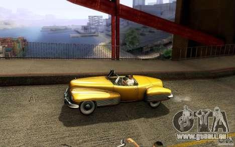 Buick Y-Job 1938 pour GTA San Andreas vue de dessous