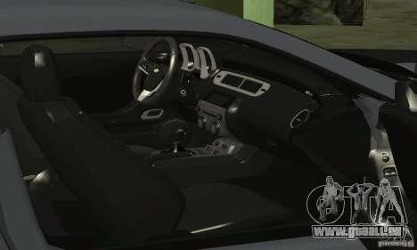 Chevrolet Camaro ZL1 2012 pour GTA San Andreas vue de côté