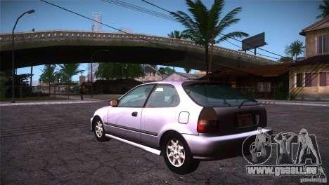 Honda Civic Tuneable pour GTA San Andreas sur la vue arrière gauche