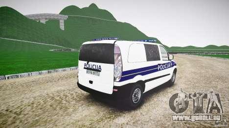 Mercedes Benz Viano Croatian police [ELS] pour GTA 4 est un côté