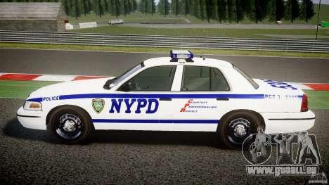 Ford Crown Victoria NYPD [ELS] für GTA 4 linke Ansicht