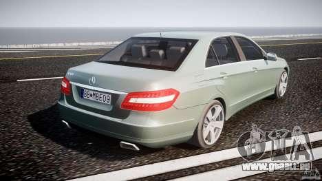 Mercedes-Benz E63 2010 AMG v.1.0 pour GTA 4 vue de dessus