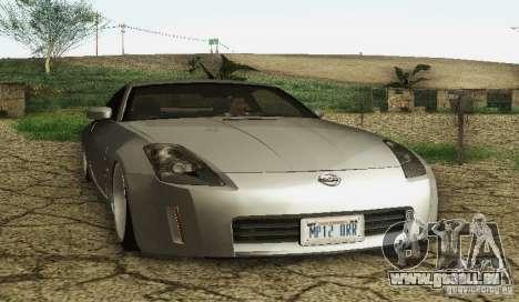 Nissan 350Z Stanceworks pour GTA San Andreas sur la vue arrière gauche