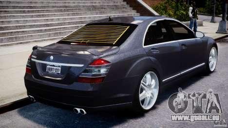 Mercedes-Benz S-Class W221 BRABUS SV12 für GTA 4 Unteransicht