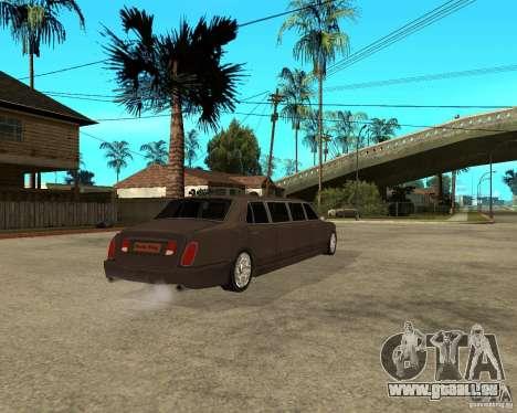 Rolls Royce Silver Seraph pour GTA San Andreas sur la vue arrière gauche