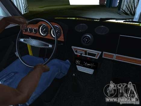 VAZ 2106 (Gold) für GTA San Andreas Rückansicht