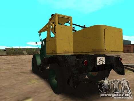 GAZ 51 grue mobile pour GTA San Andreas sur la vue arrière gauche