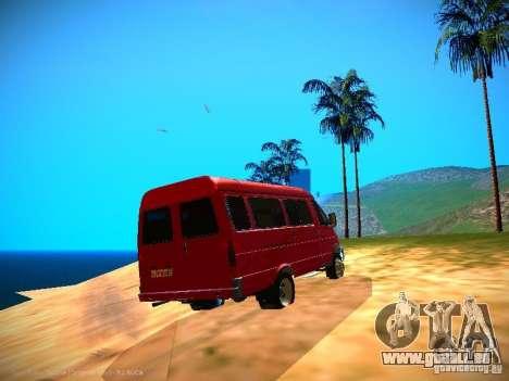 Gazelle 32213 Business v1.0 pour GTA San Andreas vue de dessous