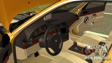 BMW 730i Taxi pour GTA San Andreas vue intérieure