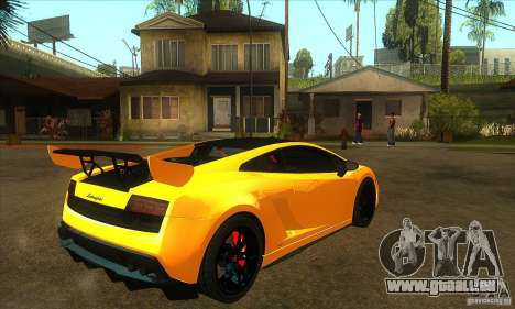 Lamborghini Gallardo LP570 Super Trofeo Stradale für GTA San Andreas rechten Ansicht
