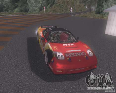 Honda NSX Japan Drift für GTA San Andreas obere Ansicht