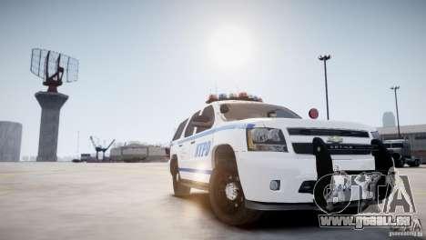 Chevrolet Tahoe 2012 NYPD pour GTA 4 est un droit