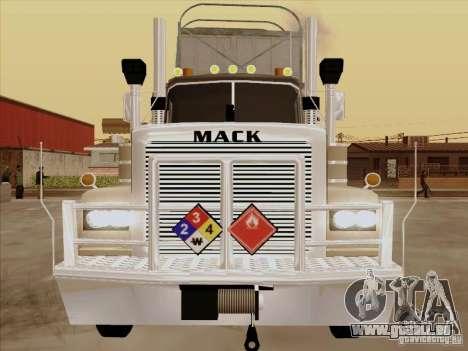 Mack RoadTrain pour GTA San Andreas laissé vue